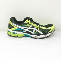 Asics Mens Gel Flux 2 T518N Black Green White Running Shoes Lace Up Size 11