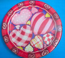 Valentine Red Pink Heart Deco Round Paper Plates 8 CT 6 3/4in. Sensations