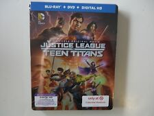 Justice League Vs. Teen Titans (Blu-ray/DVD, Digital HD, 2016) Target Steelbook