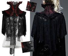 Cape poncho col corset de cou gothique baroque burlesque dentelle fur Punkrave