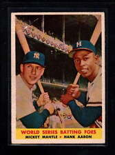 1958  TOPPS #418 MICKEY MANTLE/ HANK AARON VG D9892