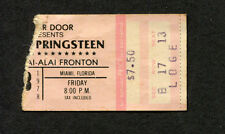 1978 Bruce Springsteen concert ticket stub Miami FL Darkness On The Edge Of Town