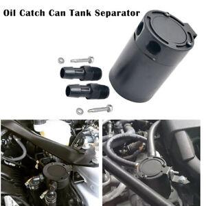 300ML Oil Catch Can Baffled Breather Petrol Diesel Turbo Tank Reservoir Kit AU