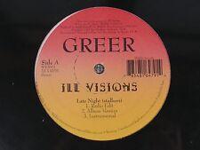 """SEALED Very Rare GREER """"Ill Visions"""" - 12"""" Wildlife indie rap og vinyl 1998 90s"""