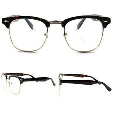 Retro Fashionable Mens Womens Clear Lens Tortoise Vintage Eye Glasses Tortoise