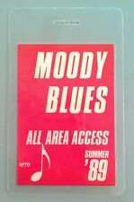 1989 Moody Blues Red All Area Access Laminated Backstage Pass