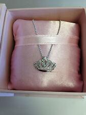 Cinderella Diamond Tiara Necklace by Disney 14k white gold