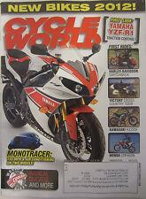 Cycle World Magazine November 2011 Yamaha YZF-R1 Victory Cross Country Tour KX25