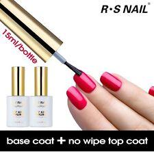 RS Nail Gel Polish Top it Off Top Coat+Foundation Base Coat UV LED Varnish 15ml