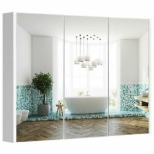 Bathroom Mirror Cabinet,36X25 In Wall Mounted Medicine Cabinet Adjustable Shelf