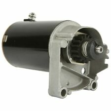 New Starter Motor for Briggs V Twin Cylinder HD 14 16 18 HP with FREE GEAR