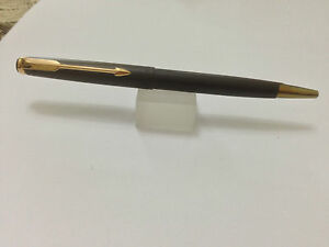 Parker 50 Falcon Matte Brown & Gold Ballpoint Pen New In Box Made In Usa