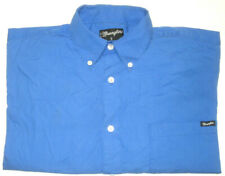 WRANGLER MENS SIZE SMALL BLUE LONG SLEEVE BUTTON UP SHIRT FREE POST