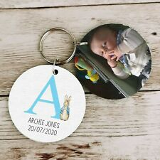 Personalised New Baby Gifts Christening Keyring Name Birth Girl Nursery Bedroom