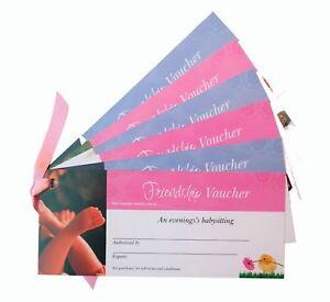 Friendship Vouchers | IOU Cards for your Best Friend BFF - Babysitting etc