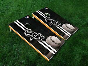 Chicago White Sox Custom Cornhole Boards Wrap MLB Decal Custom Vinyl CDA28