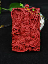 Chinese Natural Red Organic Cinnabar Dragon Pendant Fashion Lucky XiangYu Amulet