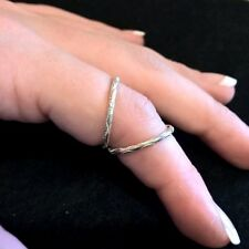 Diamond Cut Sterling Silver Ring Splint for Swan Neck or Hypermobility