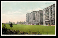 1907 street scene buildings Grant Park Chicago Illinois postcard