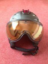 Mens Slokker Black Matt Snowboard/Ski Hemet with mounted visor