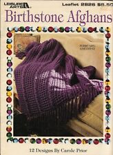 Used Birthstone Afghans 12 Designs Crochet Pattern Book Htf
