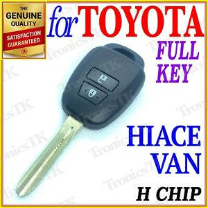 FOR TOYOTA HIACE VAN REMOTE KEY - TWO BUTTONS - H CHIP - YEAR FROM 2013 ONWARDS