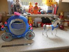 Cinderella Pumpkin Coach Carriage & Cheval-Mattel - (poupée barbie taille)