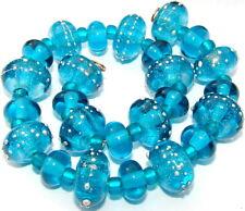 """Sistersbeads """"Greek Isles"""" Handmade Lampwork Beads"""