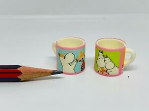 U201 Dollhouse Momin Cartoon Handled Mug Cups Friends Miniature re-ment 1:12