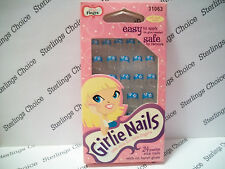 Fing'rs Girlie Nails #31063 Flower and Blue Tips