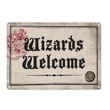 Original De Harry Potter asistentes bienvenido pequeña A5 De Acero Signo Placa de Puerta de pared de estaño