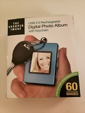 "Sharper Image USB 20 Rechargeable 1.4"" Digital Picture Frame Blue"