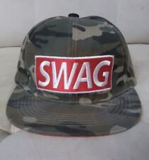 Swag Snapback Hat Camo Green Army Style