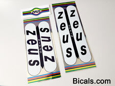 ZEUS bicycle decal set - ON CHROME FOIL sticker free shipping