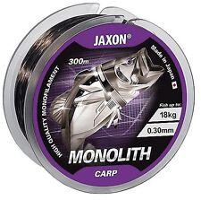 Angelschnur JAXON MONOLITH CARP 300m/600m Spule Monofile Karpfen Schnur NEU