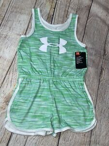 Under Armour 4 5 6 6x Green One Piece Romper NEW