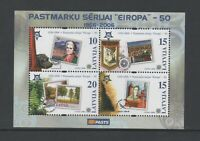 LATVIA 2006 50th ANNIV OF EUROPA STAMPS M/SHEET *VF MNH*