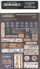 Custom Dioramics French Business Signs WWII CD5012