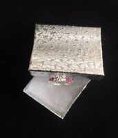 Sterling Silver .925 Mickey Mouse Ring w/Pink&White Cz Crystals Sz 5 , 6, 7 & 8