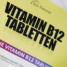 Vitamin B12 - 180 Tabletten à 1000 mcg - Vegan Methylcobalamin hochdosiert B 12
