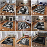 MODERN RUG BLACK SILVER  SOFT LARGE LIVING ROOM  BEDROOM FLOOR CARPET CHEAP RUGS