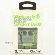 Skullcandy Headphones SMOKIN BUDS In-Ear Buds w/Mic & Remote Lurker Green Black