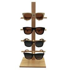 2018 NEW 4 PAIR NATURAL WOODEN SUNGLASS DISPLAY RACK wood sunglasses holder