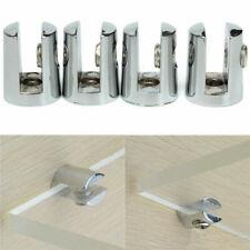 4Pcs Glass Plated Brackets Zinc Chrome Alloy Shelf Holder Support Clamp