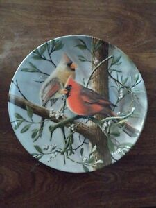 The Cardinal Red Bird Fine China Plate Vtg Kevin Daniel Ltd Ed Knowles No 2021 R