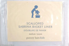Pottery Barn Kids Scalloped Sabrina Basket Liner White Med Cotton New 9645