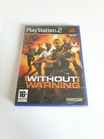 Without Warning PlayStation 2 UK PAL Sealed / New  PS2 Game Capcom Retro 1 16+