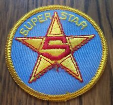 Vintage Unused SUPER STAR-5 Jean Jacket Shirt Hat PATCH Sports Video Gaming Nice