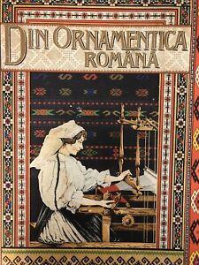 RARE DIN ORNAMENTICA ROMANA BOOK ROMANIAN FOLK ORNAMENT PATTERN ART