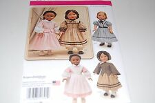 """Simplicity Pattern # 1391 - Girl 18"""" Historic Doll Clothes - Five Outfits - NEW"""